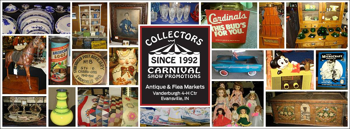 Cccollage collectors carnival collectors carnival for Antique fairs and flea markets 2016
