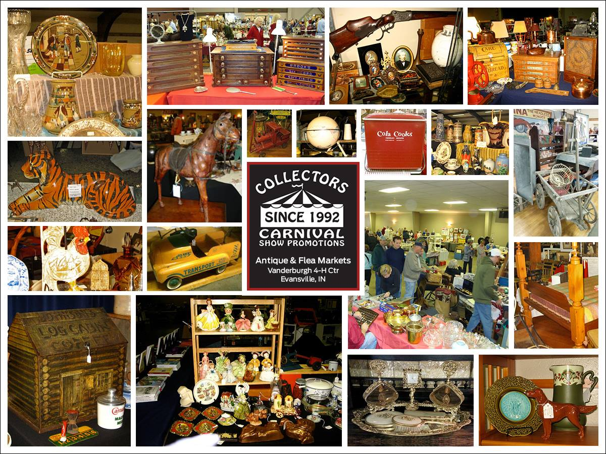 Cccollage2 collectors carnival collectors carnival for Antique fairs and flea markets 2016